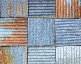 20 Pieces Vintage Reclaimed Corrugated Rustic Metal Roofing Etsy In 2020 Metal Roof Rustic Metal Pieces Vintage