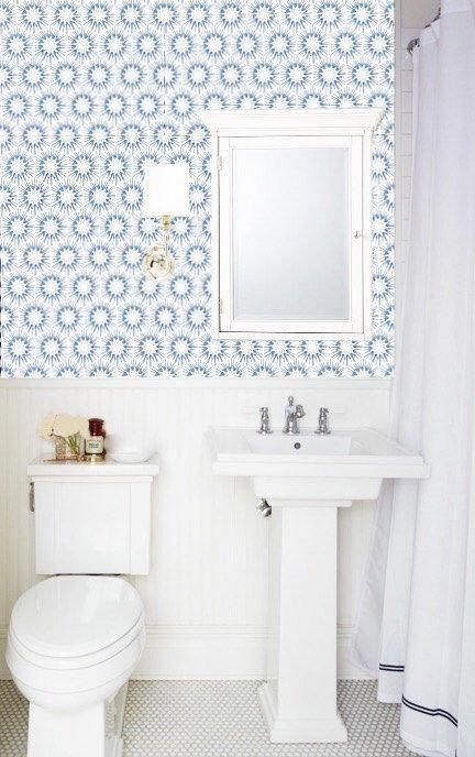Bathroomwallpaper Coral Bathroom Decor Powder Room Wallpaper Powder Room Small