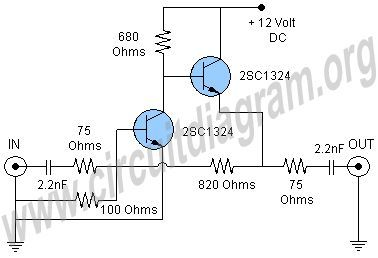 Cable Tv Signal Booster Amplifier Circuit Diagram Signal Boosters Amplifier Electronics Circuit