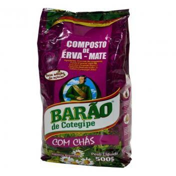 Composto De Erva Mate Para Chimarrao 500 Gr Com Chas Barao 054