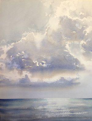 Kauai Clouds Peinture A L Aquarelle Art De La Peinture Aquarelle