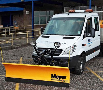 Meyer Snow Plough Fitted To A Mercedes Sprinter Snow Plow Snow Meyer