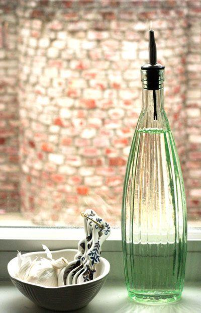 Etched Soap Bottle Olive Oil Dispenser Dish And Plastic Bottles