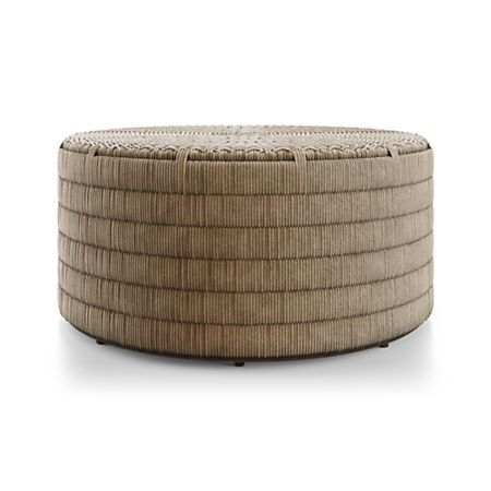 Madura Woven Outdoor Coffee Table Outdoor Coffee Tables Outdoor Ottomans Crate Barrel