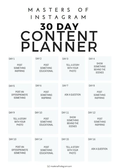 GET IT WHILE ITS FREE!! Deal ends on Dec 18th, 2017 - 30 Day Instagram Content Planner by Masters of Instagram on @creativemarket