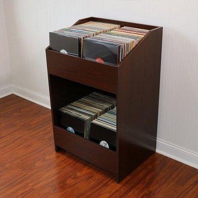 Lpbin Lp Storage Cabinet Java Cherry Record Storage Lp Storage Cabinet Lp Storage