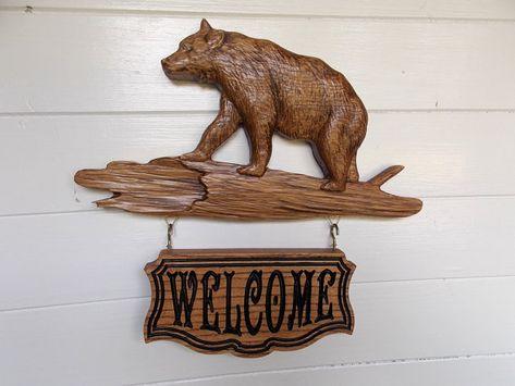 Bear Decor Sign Rustic