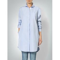 Replay Damen Bluse im geraden und langen Schnitt blau
