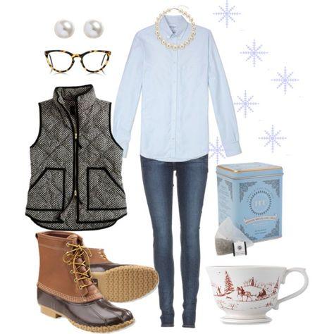 """Winter Tea"" by mrsrutledge1810 on Polyvore #LLBEAN BOOTS"