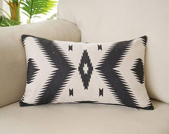"12x20/"" Black White Geometric Pillow Case Cushion Cover Pillowslip Home Decor"