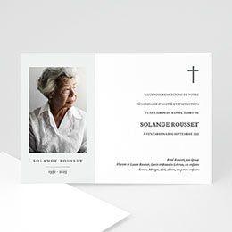 Photo Remerciements cartes chagrin tristesse carte photos Hagaki Enterrement condoléances –...