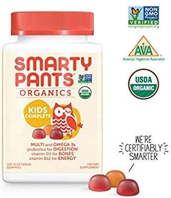 Amazon Com Smartypants Vegetarian Organic Kids Daily Gummy Vitamins Multivitamin Gluten Free Non Gmo Kids Multivitamin Multivitamin Organic Kids Products