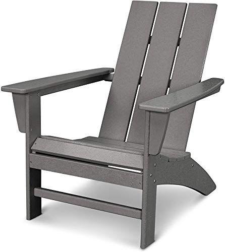 New Polywood Ad420gy Modern Adirondack Chair Slate Grey Online