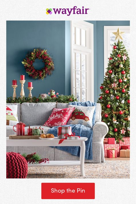 Deck every hall with holiday home decor! Spread cheer to your living room with festive pillows for the sofa, cranberry wreaths and garlands for the mantel, and artificial Christmas trees for the corner. From the holidays to every day, find everything home with fast and FREE shipping at Wayfair.
