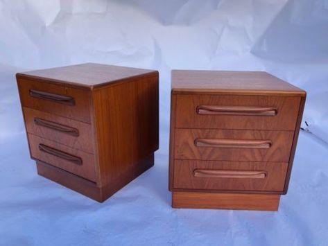 1e2943f0d787 Pair-of-Vintage-Teak-G-Plan-Fresco-3-Drawer-Bedside-Tables-Chest-3 ...