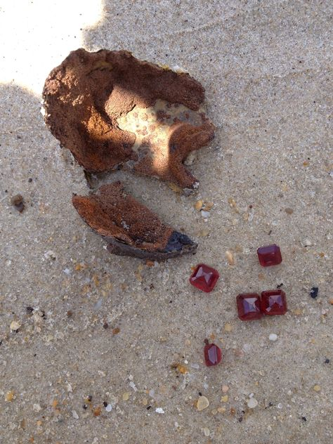 Red Rubies Found On Coin Beach Delaware Shipwreck Treasure Pinterest