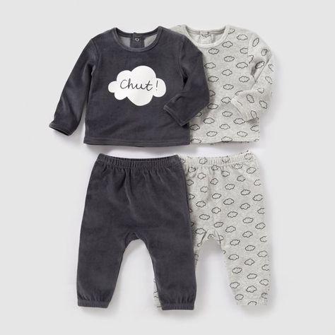 4c821ffa10cfe Pyjama 2 pièces velours (lot de 2) 0 mois-3 ans R baby