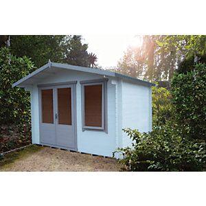 Shire 11 X 10 Ft Berryfield Double Door Garden Log Cabin Wickes Co Uk In 2020 Garden Log Cabins Double Doors Log Cabin