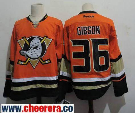 b36e18d6d Men's Anaheim Ducks #36 John Gibson Orange Alternate Stitched NHL Reebok Hockey  Jersey