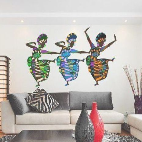Style And Apply African Art Dancers Wall Decal Wayfair Funny Wall Art Framed Canvas Wall Art Canvas Wall Art