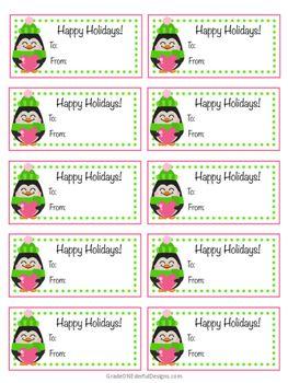 Free Penguin Christmas Tags Christmas Tag Christmas Penguin Free