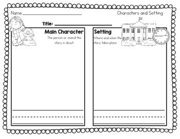 Character and Setting worksheets. Students can design their own ...