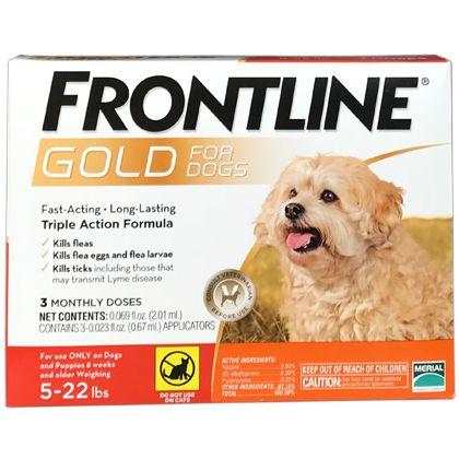 Frontline Gold Fleas Ticks Dogs