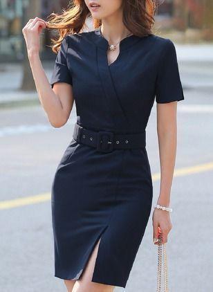 95fac9f96896 Modelos de vestido para usar no trabalho | styling | Modelos de vestidos  curtos, Vestidos para senhoras e Vestido tubinho