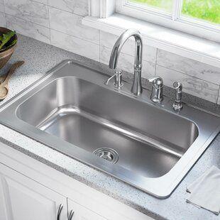 Akdy 32 X 22 Drop In Kitchen Sink With Basket Strainer Sink Stainless Steel Sinks Drop In Kitchen Sink
