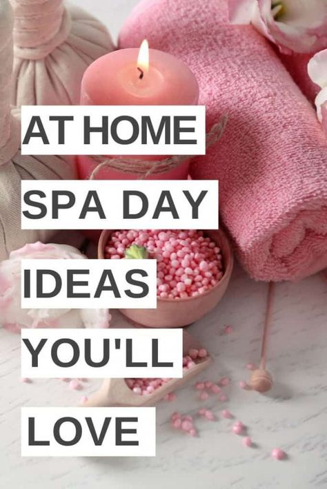 I love these at home spa day ideas! A perfect way to have a spa day at home and relax without spending a lot or even leaving the house! Try these fun at home spa tips to have your own DIY spa day of pampering at home! day ideas for women Diy Spa Day, Spa Day At Home, Cleanser For Oily Skin, Facial Cleanser, Spa Tag, Home Spa Treatments, Hair Treatments, Pamper Days, Spa Night