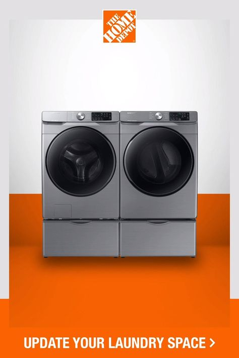 Get savings on select laundry appliances. Choose from a wide selection of top washers and dryers to give your laundry room a new look. Click to shop laundry appliances at The Home Depot.​