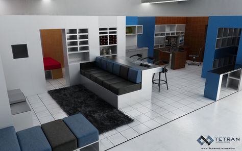 Best Studio And Loft Design Spaces Images On Pinterest Loft - Design your own furniture with tetran eco friendly modular cubes