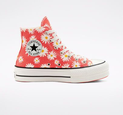 Camp Daisies Platform Chuck Taylor All Star Chuck Taylors Star Sneakers Womens High Top Shoes