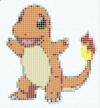 Charmander Pixel Art Template Minecraft Blog Pokemon Quilt