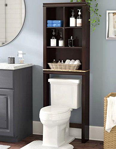Bathroom Storage Organizer Over Toilet Bath Space Saver 2 Tier Black Vdomus Bathroom Styling