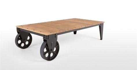 Humphrey Une Table Basse Industrielle Bois Et Bronze Vintage