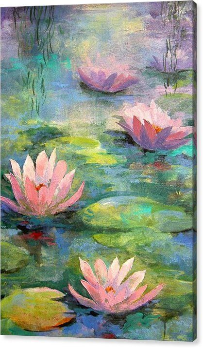 Waterlilies Canvas Print Canvas Art By Madeleine Holzberg In