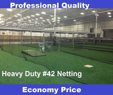 Baseball Batting Cage Nets 42 54 Ply Hdpe Commercial Quality Multiple Sizes Batting Cage Net Batting Cages Backyard Baseball