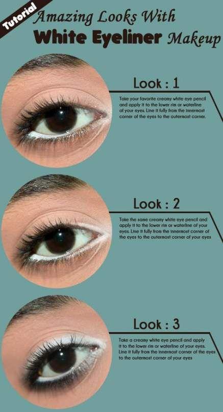 52 Ideas Makeup Eyeliner White Simple No Eyeliner Makeup White Eyeliner White Eyeliner Makeup