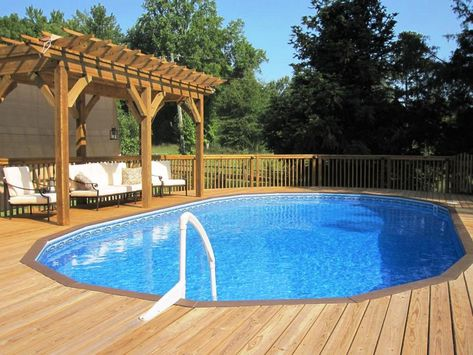 Image Result For Large Deck Design Ideas For Above Ground Pools