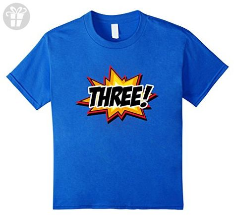 be3a94ba6 Kids SuperHero Birthday Shirt 3 Year Old Boys and Girls ALL AGES 4 Royal  Blue - Birthday shirts (*Amazon Partner-Link)