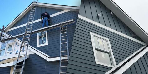 Choosing Siding James Hardie Vs Lp Smartside From A To Z In 2020 Siding Cost Installing Siding Vertical Siding