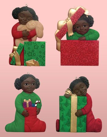 Nativity Ornament Merry Christmas Cards - African American ...