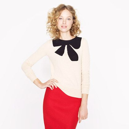 Giant bow sweater - sweaters - Women's new arrivals - J.Crew