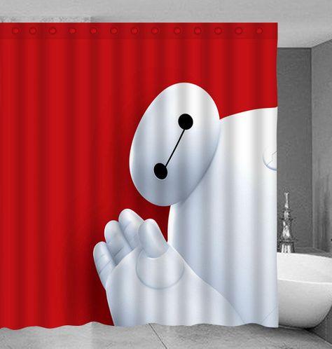 Baymax Big Hero 6 Shower Curtain Curtains Shower Curtain Shower