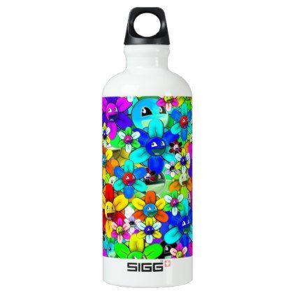 Flower smile aluminum water bottle water bottles bottle and water