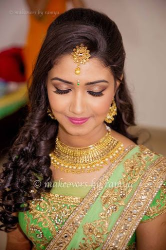 Makeovers By Ramya Portfolio Bridal Makeup Bride Wearing A
