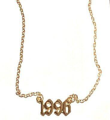 Birth Year Necklace 1996 Number Women Girls Birthday Pendant Gift Surprise Birthday Necklace Gift Birthday Pendant Birthday Necklaces
