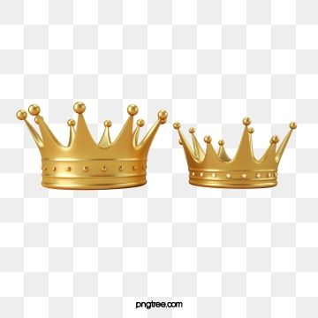Golden Three Dimensional Crown Png And Psd Crown Png Three Dimensional Happy Art