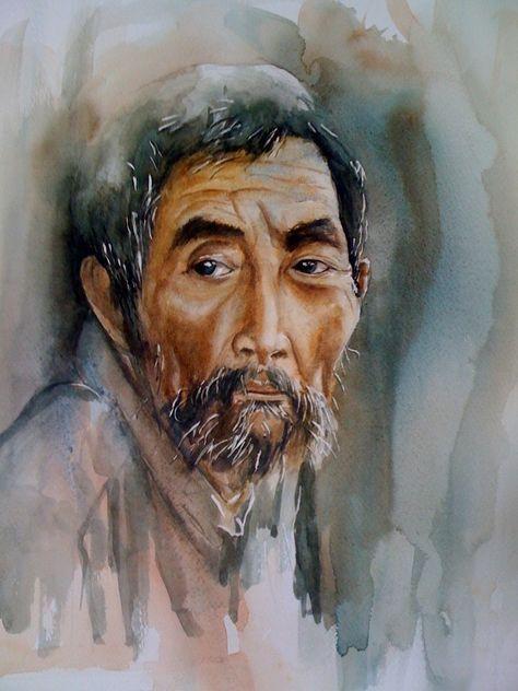 Site Peinture A L Huile Homme Portrait Homme Aquarelle